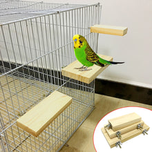 Load image into Gallery viewer, Wood Stand Platform Toy Cage Accessories For Parrot