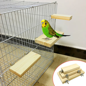 Wood Stand Platform Toy Cage Accessories For Parrot