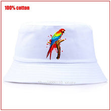 Load image into Gallery viewer, Parrot Pet Macaw Exotic Bird Panama Summer Bucket Cap Hat bob Hat Hip Hop