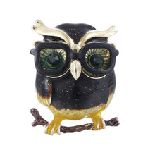 Load image into Gallery viewer, Owl Brooch Crystal Vintage Lapel Pin Brooch Jewellery