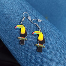 Load image into Gallery viewer, Cute Acrylic Bird Earrings