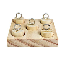Load image into Gallery viewer, Parrot Wooden Platform Plastic Rings Intelligence Training Puzzle Toy Block.