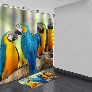 B&G Macaw Mat & Shower Curtain Set