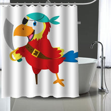 Load image into Gallery viewer, Hyacinth Scarlet Green Wing Macaw Shower Curtain With 12 Pcs Hooks