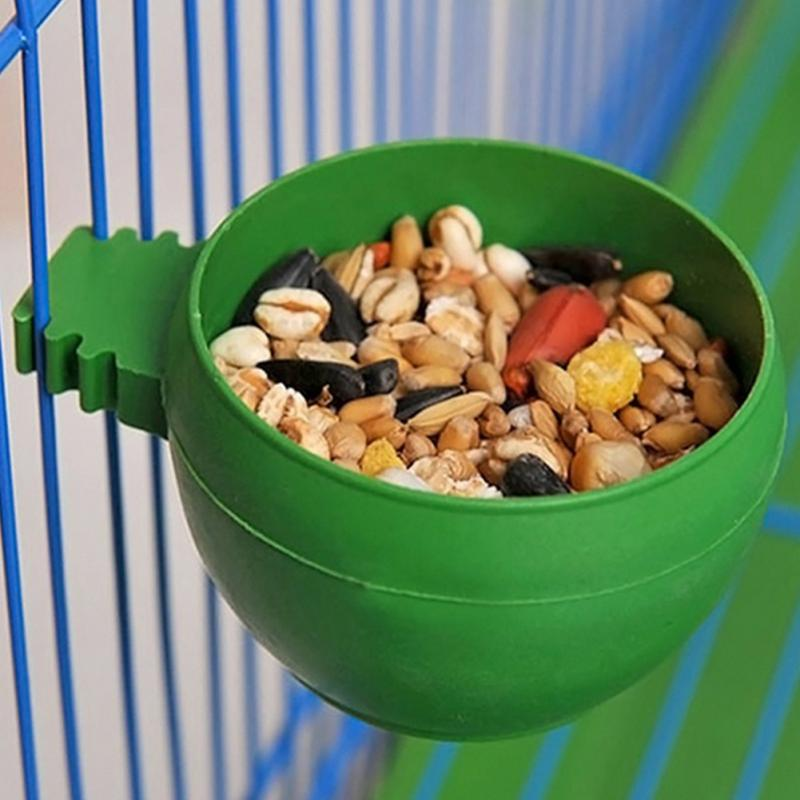 Parrot Bird Feed Bowl Cage Hanging Drinking Food Feeder Cup Bowl Feeding bowl