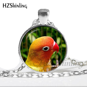 Dome Glass Parrot Necklace