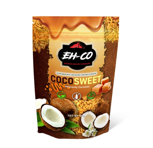 COCOSWEET | HEAVENLY CARAMEL | CANDIED COCONUT SNACK | 68G
