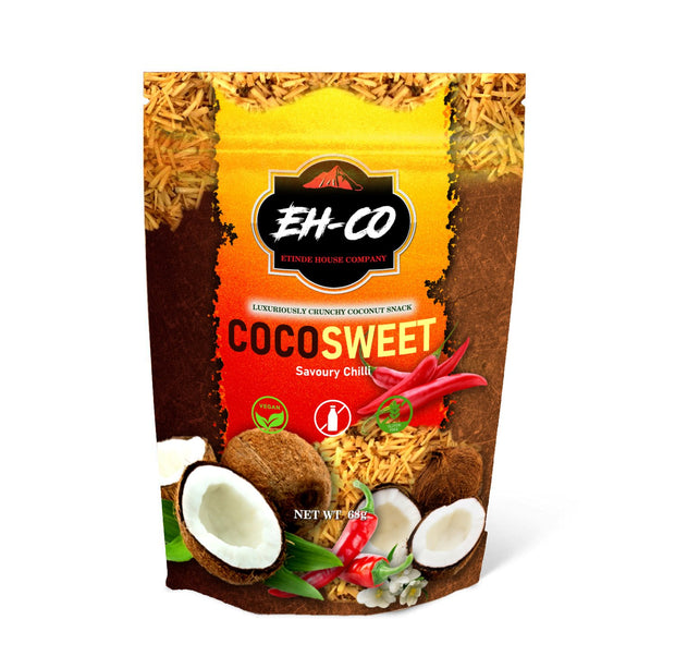 COCOSWEET | SAVOURY CHILLI | CANDIED COCONUT SNACK | 68g