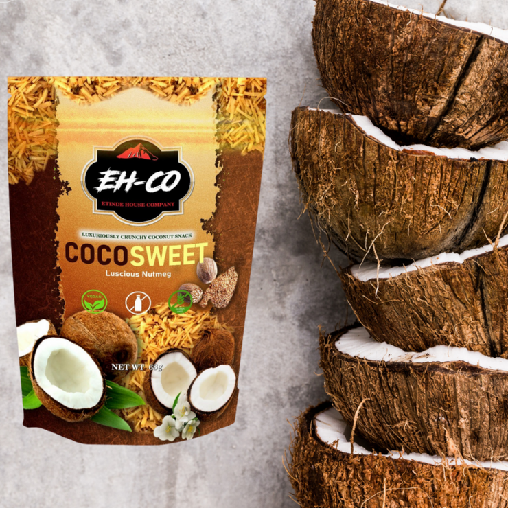 COCOSWEET | LUSCIOUS NUTMEG | CANDIED COCONUT SNACK | 68g