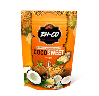 COCOSWEET | GINGER | CANDIED COCONUT SNACK | 68G