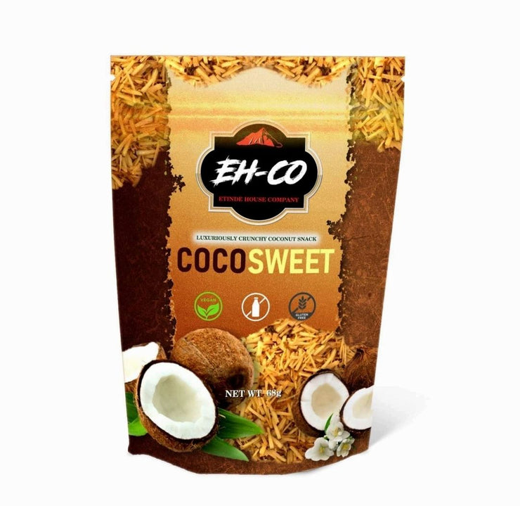 COCOSWEET | PLAIN | CANDIED COCONUT SNACK | 68g