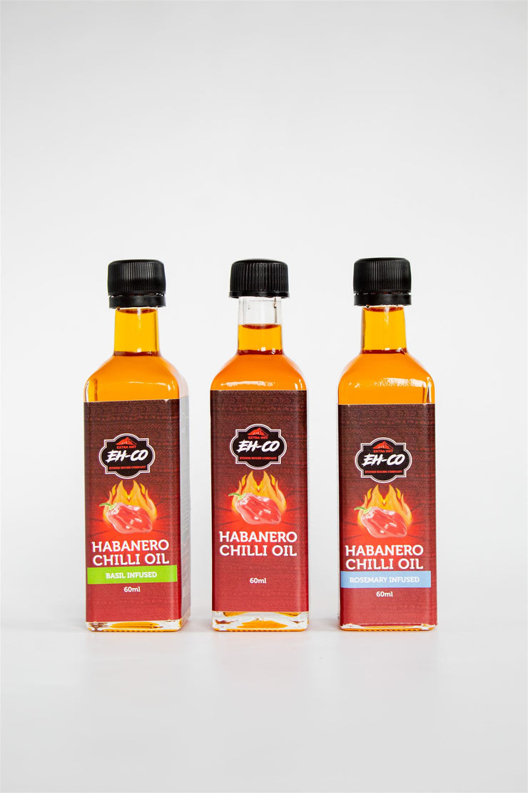 3-Pack Premium Habanero Chilli Oil | 60ML