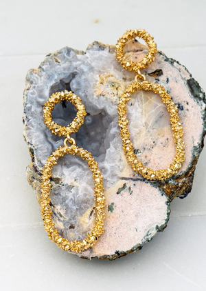 Oval Statement Earrings - Forever Pretti