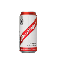 Red Stripe Cans