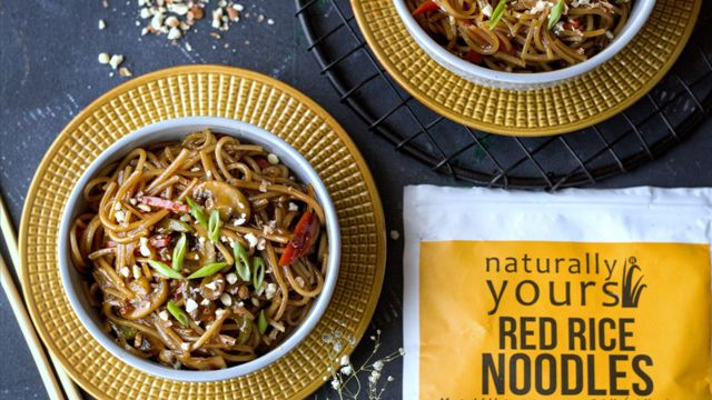 peanut butter red rice noodles