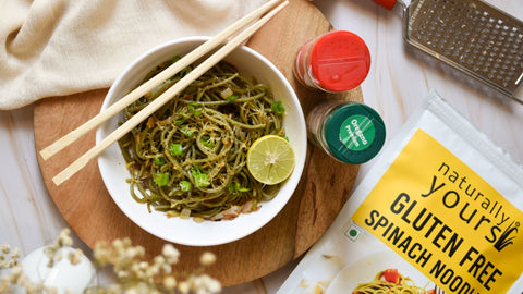 Cheesy Butter Garlic Spinach Noodles Recipes