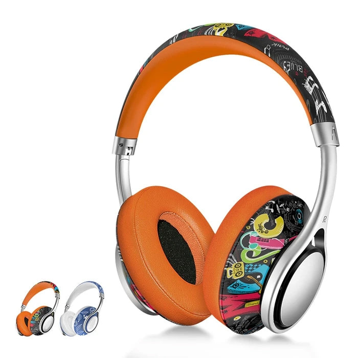 Graffiti Wireless Bluetooth Headphones/Headset