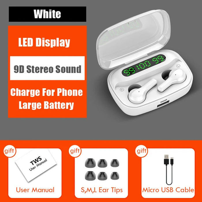 Noise Cancelling Smart Touch Wireless Bluetooth V5.0 Earphones