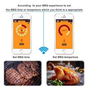 2020 Upgrade Wireless BBQ Meat Thermometer