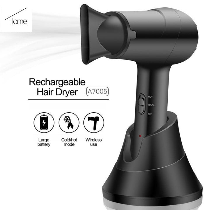 Wireless Negative Ion Portable Hair Dryer