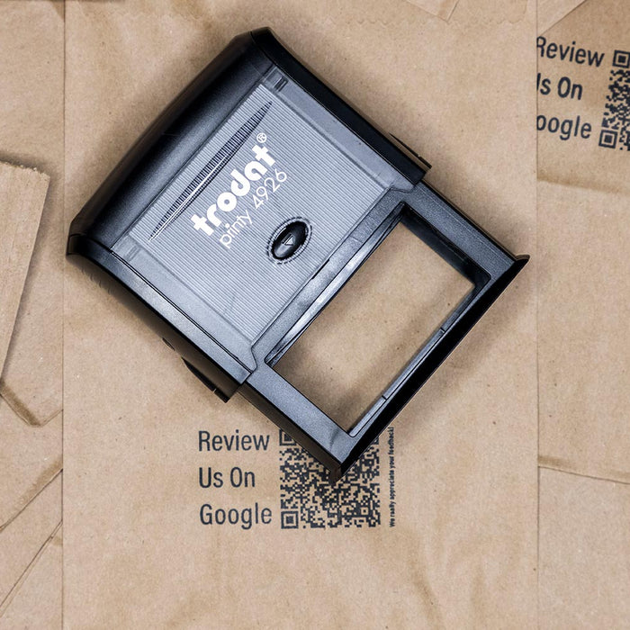 using rubber stamps on your product packaging