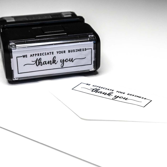 thank you for your business rubber envelope stamp