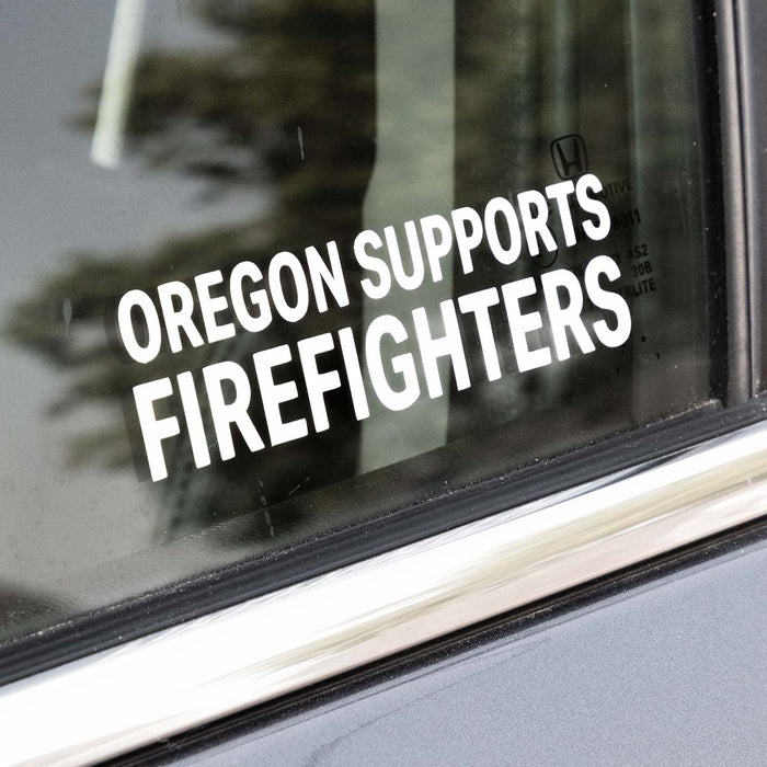 Oregon Supports Firefighters Sticker