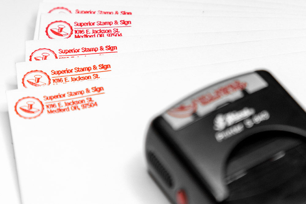 custom self inking return address stamps