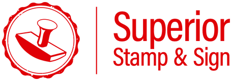 Superior Stamp and Sign logo in red