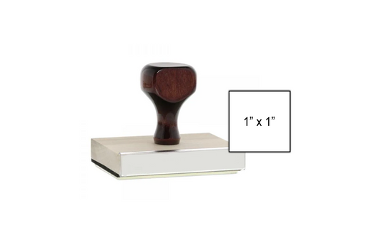 1 x 1 Wooden Stamp with Size Example