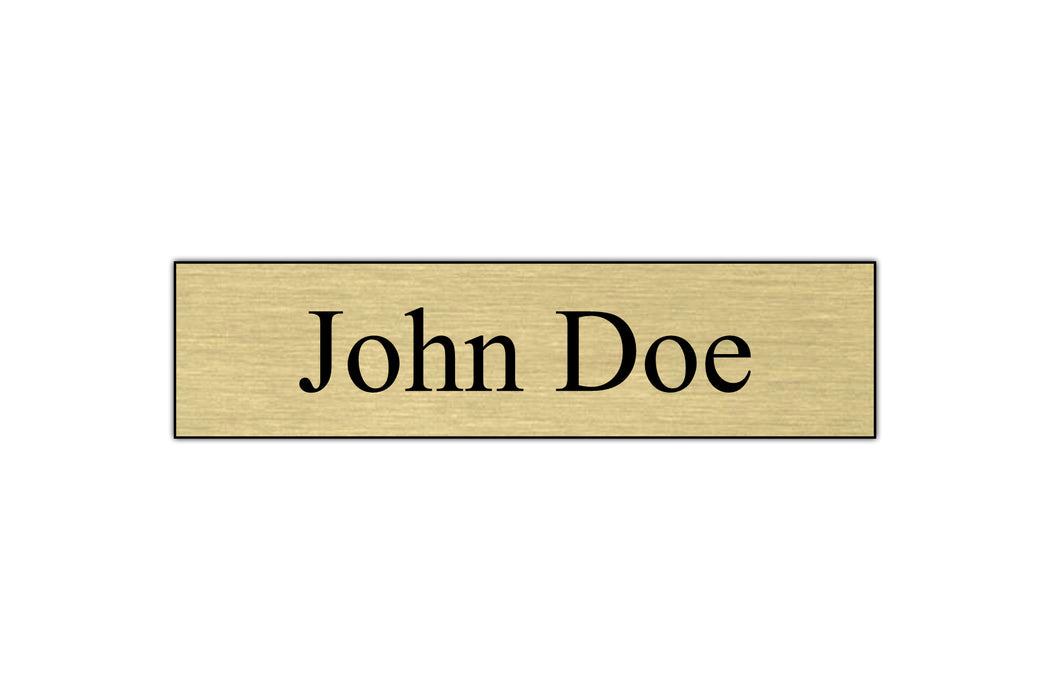 "8"" x 2"" Engraved Name Plate - 1 Line"