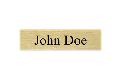 "8"" x 2"" Engraved Name Plate - 1 Line by Superior Stamp and Sign."