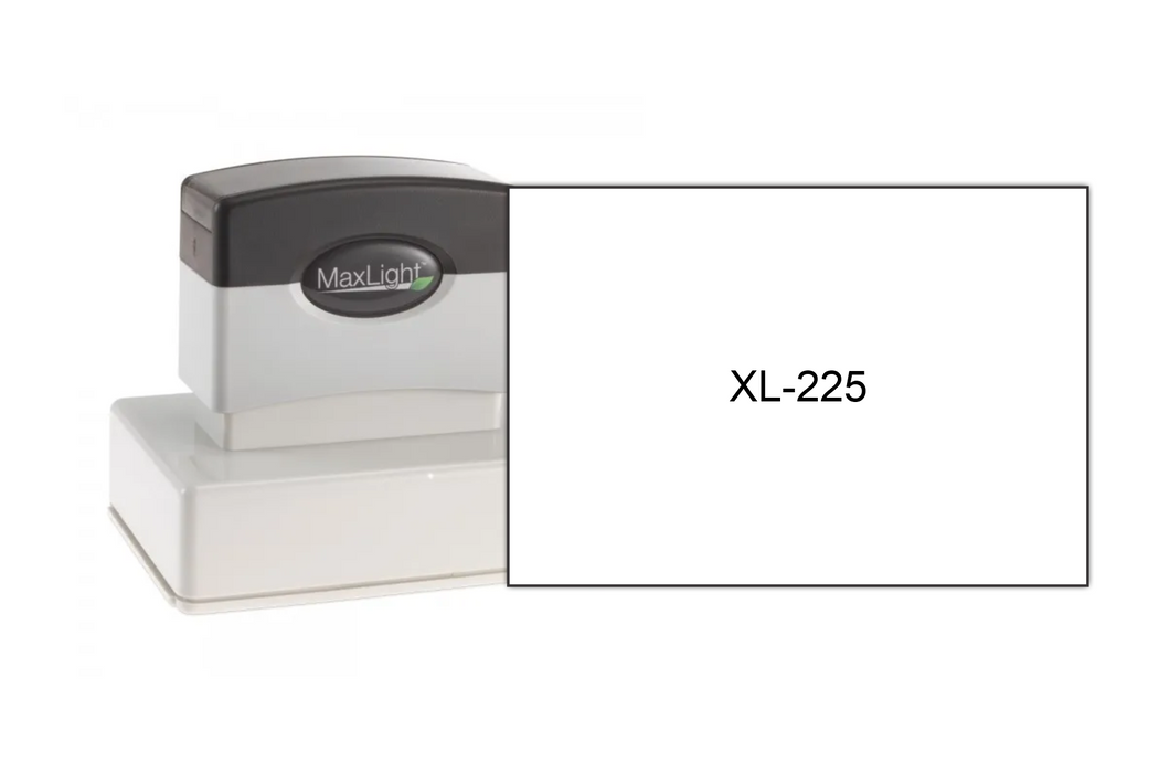 "MaxLight XL-225 (2-1/16"" x 3"") by Superior Stamp and Sign."