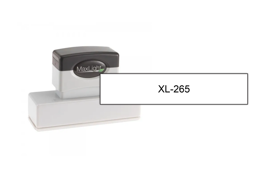 "MaxLight XL-265 (11/16"" x 3-5/16"") by Superior Stamp and Sign."