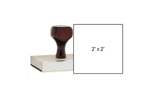 2 x 2 Wooden Stamp with Size Example
