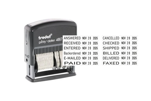 Trodat Printy 4817 Dial-A-Phrase Dater by Superior Stamp and Sign.