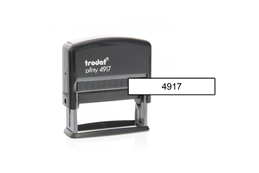Trodat 4917 With Size Example