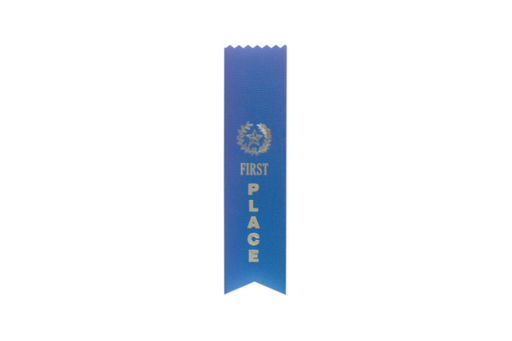 Blue 1st Place Pinked Top Ribbon