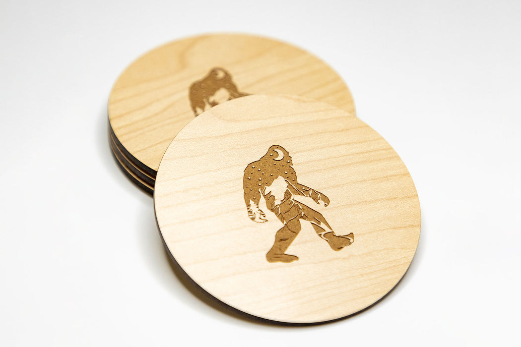 Landscape Bigfoot Coasters (4 Set) by Superior Stamp and Sign.