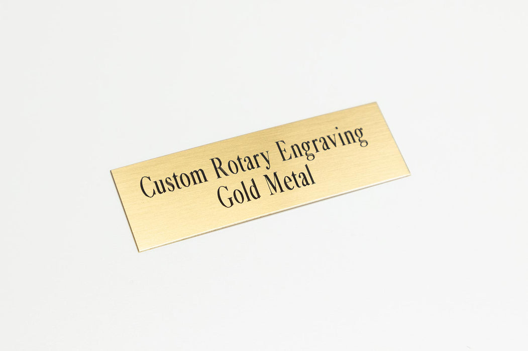 Custom Rotary Engraving on Gold Metal