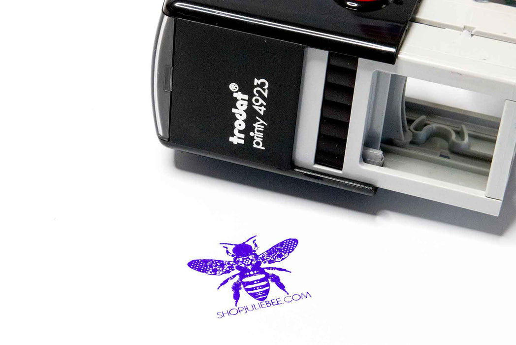 Trodat Printy 4923 Self Inking Rubber Logo Stamp for Julie Bee