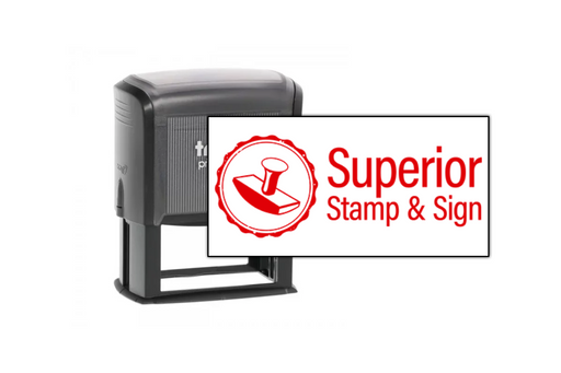 Large Rectangle Logo Stamp by Superior Stamp and Sign.