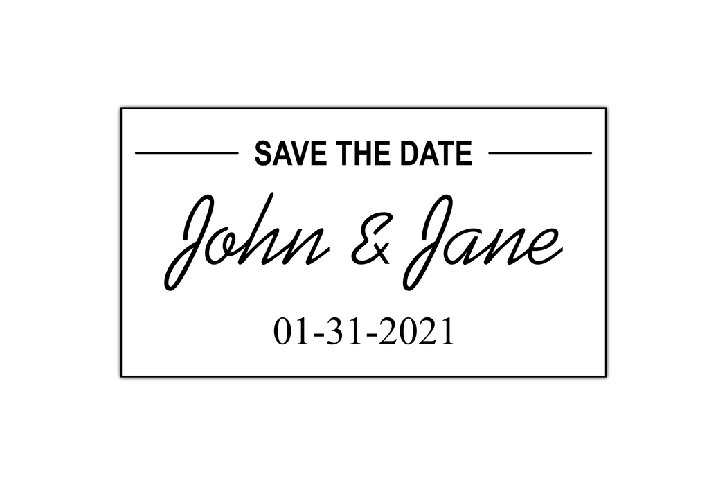 Minimal Save the Date Stamp