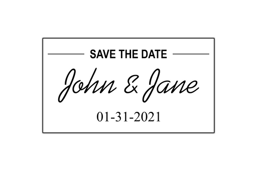 Minimal Save the Date Stamp by Superior Stamp and Sign.