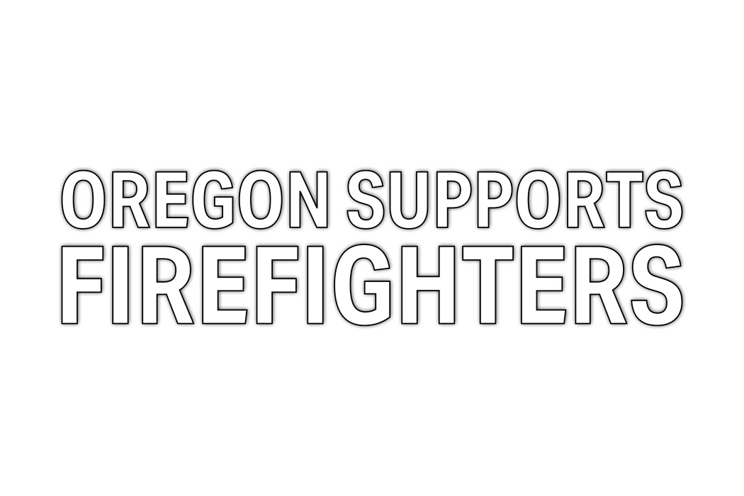 Oregon Supports Firefighters Decal