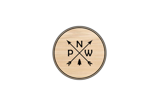 pacific northwest engraved wooden coasters