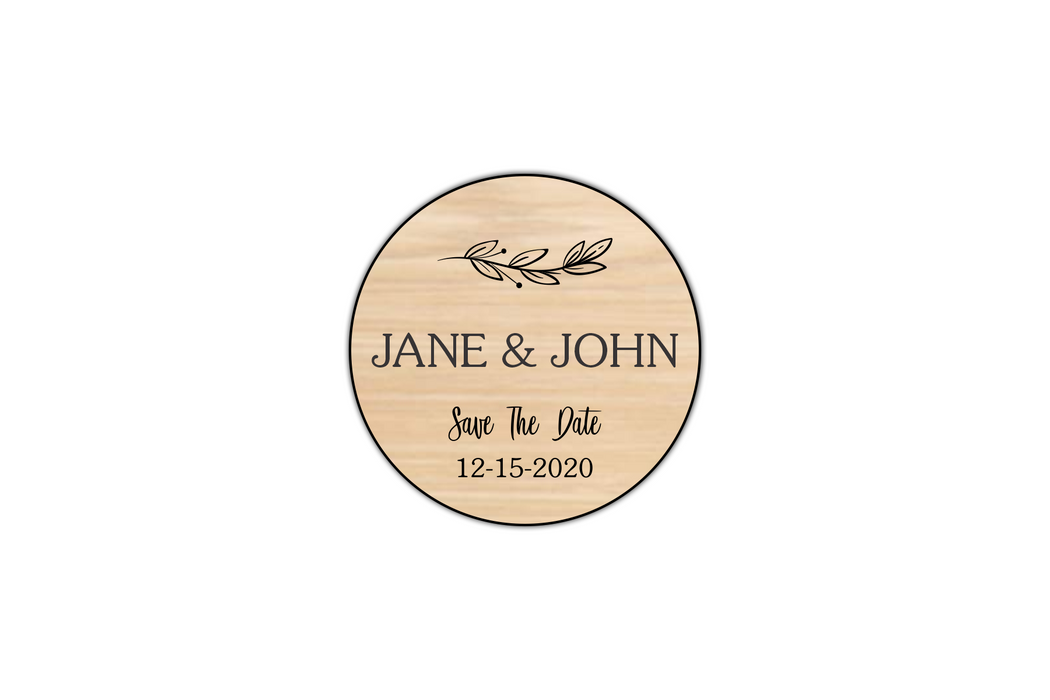 customizable wooden save the date magnet set