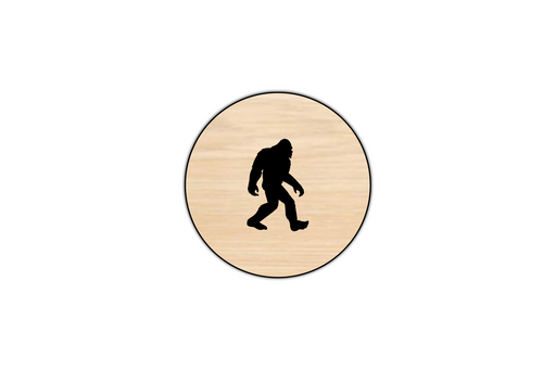 bigfoot silhouette coasters