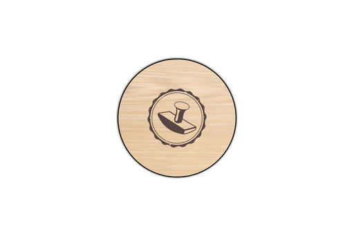 custom engraved wooden coaster example