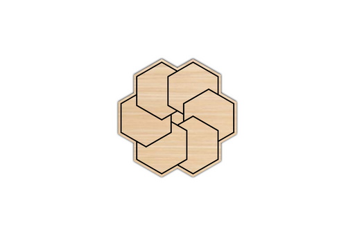 wooden geometric coaster
